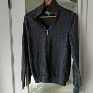 Men's Burberry Extra Fine Merino Wool Sweater FLAW